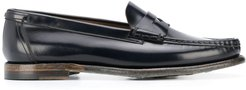 glossed loafers - Blue
