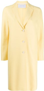 Cocoon single-breasted coat - Yellow
