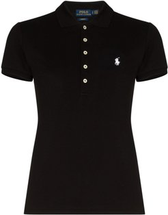 short-sleeve polo T-shirt - Black