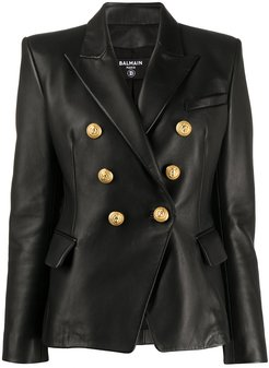 double-breasted blazer - Black