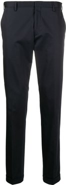 .flat front slim-fit trousers - Blue