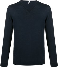 V-neck jumper - Blue