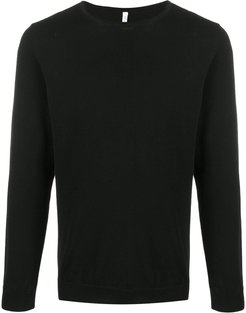round neck jumper - Black