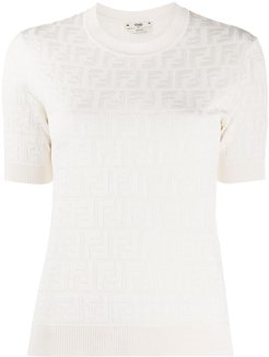 FF motif knitted top - White
