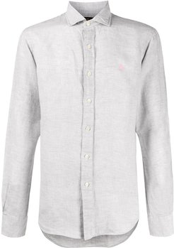 button-up long sleeve shirt - Grey