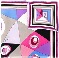 abstract print scarf - Multicolour