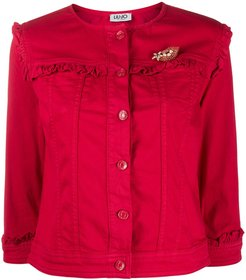 chest brooch jacket - Red