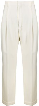 pleated wide-leg trousers - Neutrals
