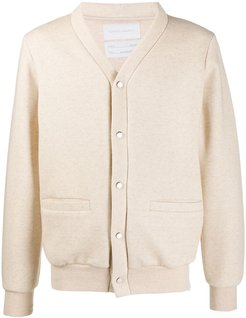 knitted bomber jacket - NEUTRALS