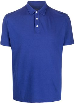 shortsleeved buttoned polo shirt - Blue