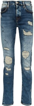 Roco distressed slim-fit jeans - Blue