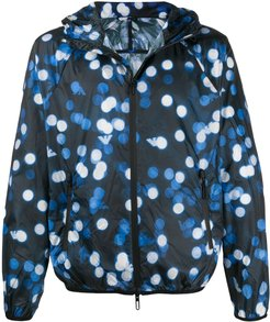 spotted hooded jacket - Blue