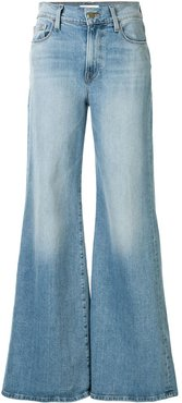 high rise flared style jeans - Blue