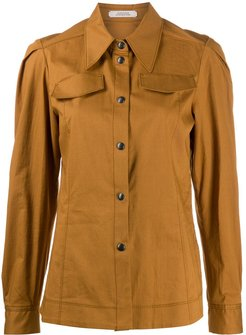 long sleeved shirtpoint - Brown