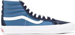 high top lace up sneakers - Blue