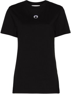Crescent Moon logo-embroidered T-shirt - Black