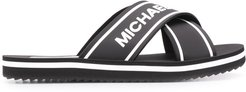 logo print slides - Black