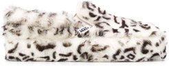 animal print slip-on trainers - White