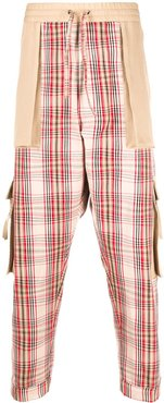checked large pocket trousers - Neutrals