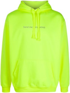 Send Me Some Emoji oversized hoodie - Yellow