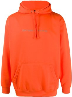 don't grow up print hoodie - ORANGE