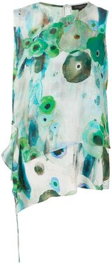abstract floral print blouse - Green