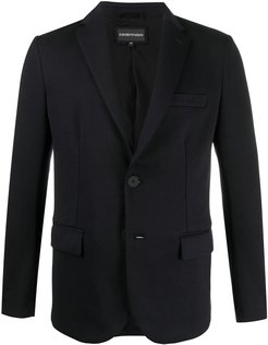 single breasted blazer - Blue