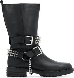 Savage wide studded boots - Black