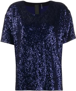 sequined top - Blue