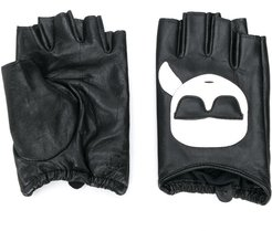 K/Ikonik fingerless gloves - Black