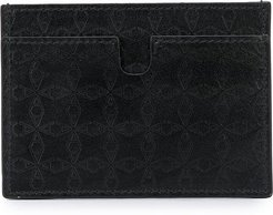 embossed small wallet - Black