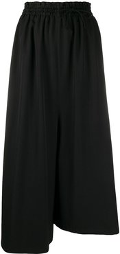 wide-leg asymmetrical trousers - Black