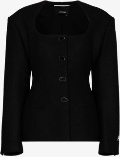 fitted wool jacket