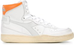 flat high top sneakers - WHITE PERSIMMON ORG/DAWN BLUE