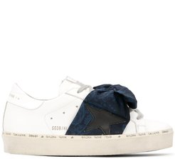 bow low-top sneakers - White