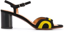 70mm open toe sandals - Black