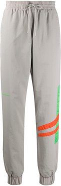 contrast stripe track trousers - Grey