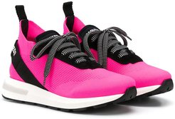 TEEN knitted low-top sneakers - PINK