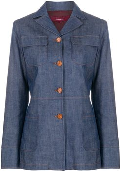 tailored denim jacket - Blue