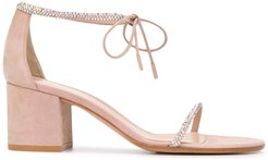 Aria 60mm suede sandals - PINK