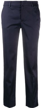 tailored slim-fit trousers - Blue