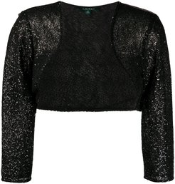 sequin-embellished bolero jacket - Black