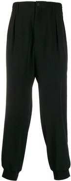 loose fit trousers - Black