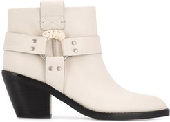 side-ring ankle boots - NEUTRALS