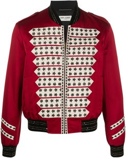 Officer fleur-de-lys bomber jacket - Red