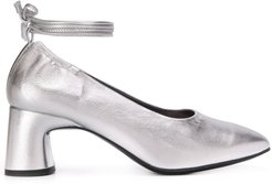 Heeled 65mm mules - SILVER