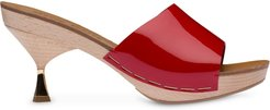 patent leather mules - Red