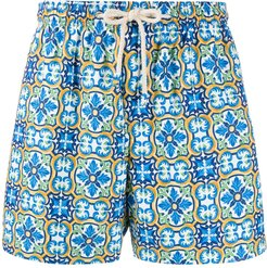 Praiano M1 mesh-lined swimming trunks - Blue