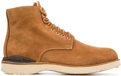 lace-up construction boots - Brown