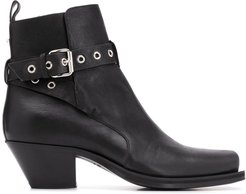 wrap-around strap ankle boots - Black